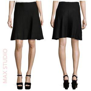 NWT 🌸 Max Studio A-Line Sweater Knit Skirt Black